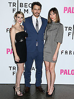 "LOS ANGELES, CA, USA - MAY 05: Emma Roberts, James Franco, Gia Coppola at the Los Angeles Premiere Of Tribeca Film's ""Palo Alto"" held at the Directors Guild of America on May 5, 2014 in Los Angeles, California, United States. (Photo by Celebrity Monitor)"