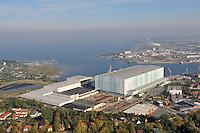 Nordic Yards Werft Wismar: EUROPA, DEUTSCHLAND, MECKLEMBURG VORPOMMERN,  (GERMANY), 10.10.2010: Die Werft Nordic Yards (ehemals Wadan Yards MTW, Aker MTW Werft) in Wismar ist eine Kompaktwerft des Unternehmens Nordic Yards Holding GmbH, deren urspruenglicher Name VEB Mathias-Thesen-Werft Wismar dem 1944 im KZ Sachsenhausen ermordeten Kommunisten Mathias Thesen gewidmet war. Sie wurde in den Jahren nach dem Zweiten Weltkrieg in mehreren Schritten an der Wismarbucht errichtet.Europa, Deutschland, Mecklenburg, Vorpommern, Wismar, Hafen, Bucht,  Werft, Nordic Yards, Ostsee, Hansestadt, von, oben, Gewerbe Industrie, Schiffbau, Wasser, Luftansicht, Uebersicht, Ueberblick, Stadt, Staedte, Stadtuebersicht, Stadtueberblick Luftbild, Luftansicht, Aufwind-Luftbilder.. c o p y r i g h t : A U F W I N D - L U F T B I L D E R . de.G e r t r u d - B a e u m e r - S t i e g 1 0 2, 2 1 0 3 5 H a m b u r g , G e r m a n y P h o n e + 4 9 (0) 1 7 1 - 6 8 6 6 0 6 9 E m a i l H w e i 1 @ a o l . c o m w w w . a u f w i n d - l u f t b i l d e r . d e.K o n t o : P o s t b a n k H a m b u r g .B l z : 2 0 0 1 0 0 2 0  K o n t o : 5 8 3 6 5 7 2 0 9.C o p y r i g h t n u r f u e r j o u r n a l i s t i s c h Z w e c k e, keine P e r s o e n l i c h ke i t s r e c h t e v o r h a n d e n, V e r o e f f e n t l i c h u n g n u r m i t H o n o r a r n a c h M F M, N a m e n s n e n n u n g u n d B e l e g e x e m p l a r !.
