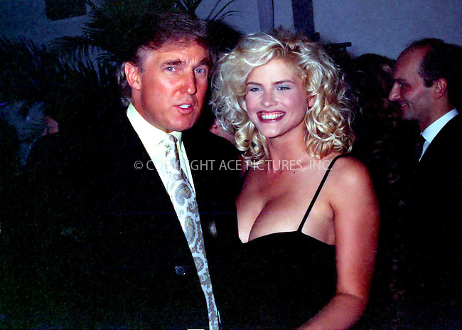 WWW.ACEPIXS.COM *** NO U.K. NEWSPAPERS SALES ***....Donald Trump and Anna Nicole, circa 1992.....Please byline: R. BOCKLET-ACEPIXS.COM  ..  ***  ..Ace Pictures, Inc:  ..Tel: (646) 769 0430..e-mail: info@acepixs.com..web: http://www.acepixs.com