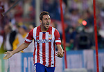 Vicente calderon Stadium. Madrid. Spain. 09/04/2014. Match between Barcelona and Atletico Madrid, Champions League. The image shows: Koke