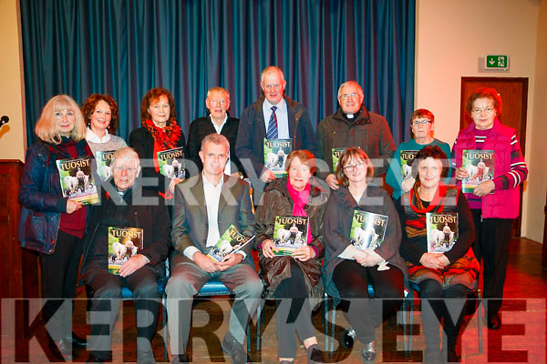 NEWSLETTER: Pictured at the launch of this year's Tuosist Newsletter in the Parish Hall, Tuosist on Saturday, were Fr. Ted Harrington, Fachtna O'Donovan, Kitty McCarthy, Mary Dunlop, Helen Brosnan, Mary Whittling, Maureen O'Sullivan, Siobhán Duggan, Mike Duggan, Dan McCarthy, Fr. John Kerin, Val Thatcher and Mary Murphy.