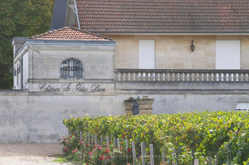 Chateau La Grace Dieu. Saint Emilion, Bordeaux, France