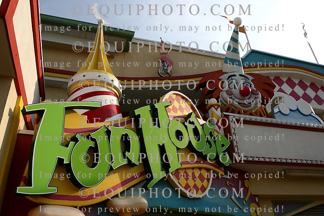 The Fun House on the boardwalk in Point Pleasant, New Jersey. Photo By Bill Denver/EQUI-PHOTO