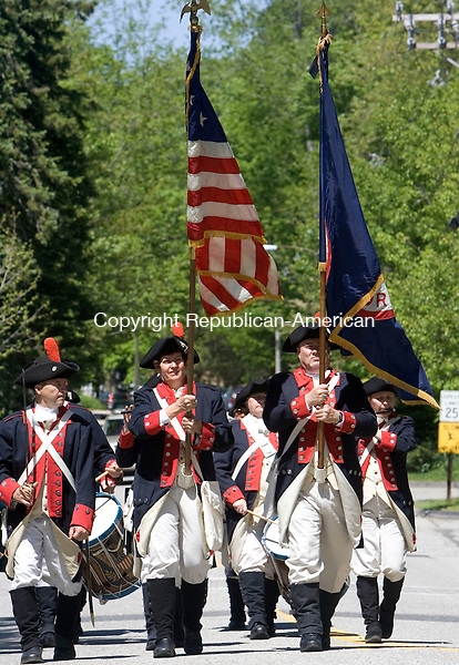 ESSEX, CT. 14 May 2012-051412SV05-The Westbrook Drum Corp. marches during the annual parade that commemorates the British raid and invasion of the town of Essex and its harbor during the War of 1812 in Essex Saturday..Steven Valenti Republican-American