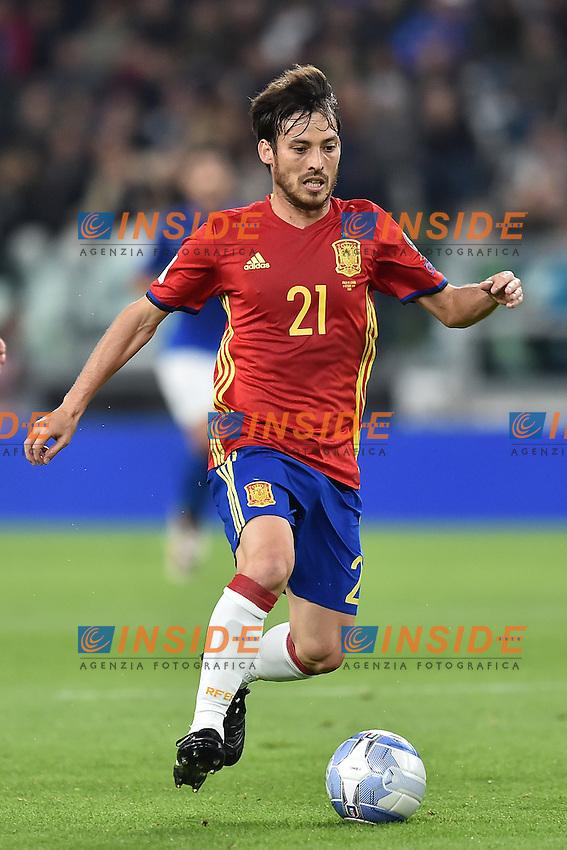 David Silva Spain <br /> Torino 06-10-2016 Juventus Stadium <br /> World Cup Qualifiers Italy - Spain / Italia - Spagna. Foto Andrea Staccioli / Insidefoto