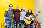 At the Comedy night at Il Forno Pizzeria on Saturday were Comedian Sean O'Boyle, Seamus Kelly, Brian White and Teresa Cahill