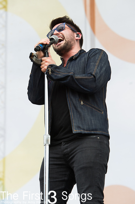 Shay Mooney of Dan + Shay performs on Day Two of the 2014 CMA Music Festival in Nashville, Tennessee.