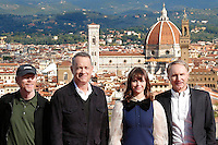 Ron Howard, Tom Hanks Felicity Jones, e Dan Brown<br />