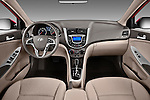 Straight dashboard view of a 2012 Hyundai Accent GLS Sedan.