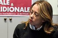 NAPOLI: PRESENTAZIONE LISTE CAMPANIA FRATELLI D'ITALIA.NELLA FOTO GIORGIA MELONI