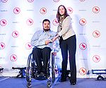 Highlights from the awards luncheon at the CPC Paralympic Summit 2018 at the Palliser Hotel in Calgary, Alberta on November 15, 2018.  Ken Thom posthumously takes home development coach award.