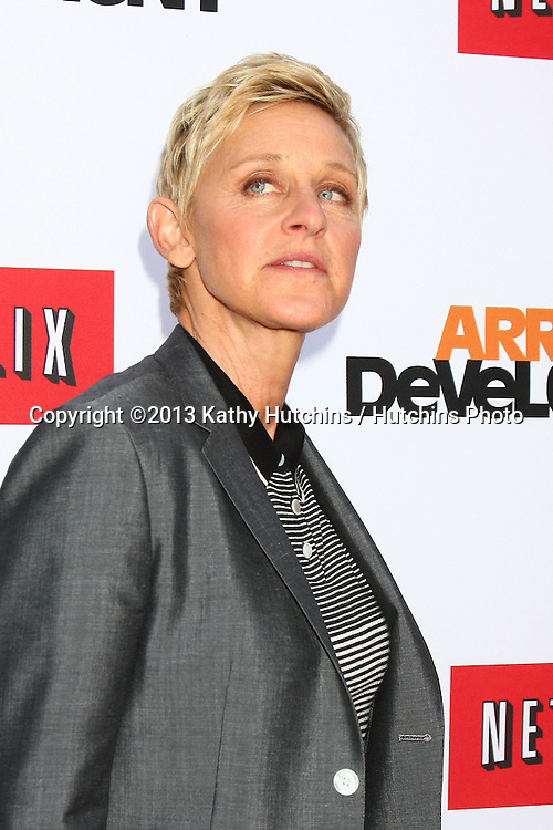 "LOS ANGELES - APR 29:  Ellen DeGeneres arrives at the ""Arrested Development"" Los Angeles Premiere at the Chinese Theater on April 29, 2013 in Los Angeles, CA"