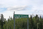 IMAGES OF THE YUKON,CANADA, Quill Creek sign
