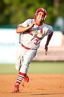 July 13, 2009:  Second Baseman Oliver Marmol of the Palm Beach Cardinals during a game at Hammond Stadium in Ft. Myers, FL.  Palm Beach is the Florida State League High-A affiliate of the St. Louis Cardinals.  Photo By Mike Janes/Four Seam Images