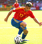 23 June 2006: Joaquin (ESP). Spain defeated Saudi Arabia 1-0 at Fritz-Walter Stadion in Kaiserslautern, Germany in match 47, a Group H first round game, of the 2006 FIFA World Cup. With the win, Spain goes through as the top team in Group H, while Saudi Arabia is eliminated with the loss.