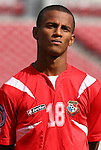 15 March 2008: Reggie Arosemena (PAN). The Panama U-23 Men's National Team defeated the Cuba U-23 Men's National Team 4-1 at Raymond James Stadium in Tampa, FL in a Group A game during the 2008 CONCACAF's Men's Olympic Qualifying Tournament.