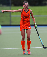 Action during the Women's National Under 21 Championships between Midlands and North Harbour,  Lloyd Elsmore Park, Auckland, New Zealand. Sunday 7 May 2017. Photo:Simon Watts / www.bwmedia.co.nz