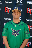 Lincoln Greasley during the Under Armour All-America Tournament powered by Baseball Factory on January 17, 2020 at Sloan Park in Mesa, Arizona.  (Mike Janes/Four Seam Images)