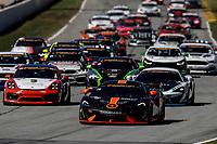 #76 Compass Racing, McLaren GT4, GS: Matt Plumb, Paul Holton leads at the start