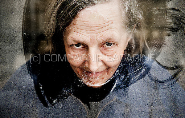 Portrait and serie of conceptual artist Martine De Bruyn and her work (Belgium, 01/06/2010)
