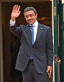 Sheikh Abdullah bin Zayed bin Sultan Al Nahyan, Minister of Foreign Affairs and International Cooperation of the United Arab Emirates arrives for the working dinner for the heads of delegations at the Nuclear Security Summit on the South Lawn of the White House in Washington, DC on Thursday, March 31, 2016.<br /> Credit: Ron Sachs / Pool via CNP