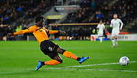 Hull City's Leo Da Silva Lopes scores the opening goal <br /> <br /> Photographer Chris Vaughan/CameraSport<br /> <br /> The EFL Sky Bet Championship - Hull City v Swansea City -  Friday 14th February 2020 - KCOM Stadium - Hull<br /> <br /> World Copyright © 2020 CameraSport. All rights reserved. 43 Linden Ave. Countesthorpe. Leicester. England. LE8 5PG - Tel: +44 (0) 116 277 4147 - admin@camerasport.com - www.camerasport.com