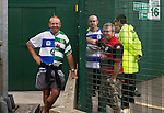 Yeovil Town 0 Queens Park Rangers 1, 21/09/2013. Huish Park, Championship. A fan wearing a half yeovil half QPR shirt. Photo by Paul Thompson.
