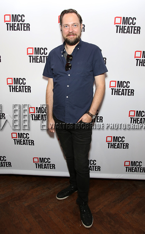 """Moritz von Stuelpnagel attends the photo call for the cast and creative team of MCC Theater's New York Premiere of """"Seared"""" on September 11, 2019 at Artesia Wine Bar in New York City."""