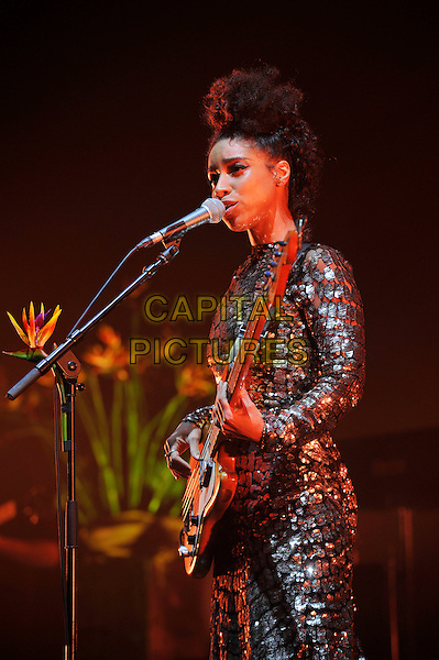 LONDON, ENGLAND - DECEMBER 14: Leanne La Havas performing at Brixton Academy on December 14, 2015 in London, England.<br /> CAP/MAR<br /> &copy; Martin Harris/Capital Pictures