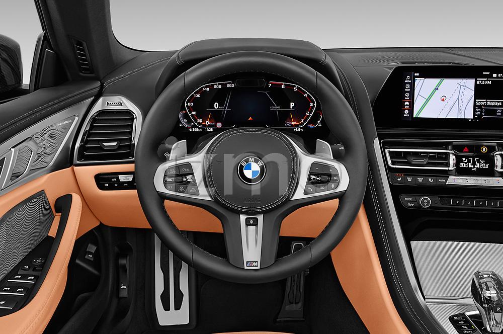 Car pictures of steering wheel view of a 2019 BMW 8-Series - 2 Door Convertible Steering Wheel