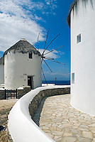 Today, five out of the original ten lower windmills (Kato Milli) on the Greek island of Mykonos have been preserved. They once ground the local wheat using the unfailing power of the wind, helping its many bakeries turn the small island into a necessary stop for ships sailing the Aegean.