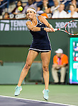 Timea Bacsinszky (SUI) during her quarterfinal match against Serena Williams (USA) at the BNP Parisbas Open in Indian Wells, CA on March 18, 2015.