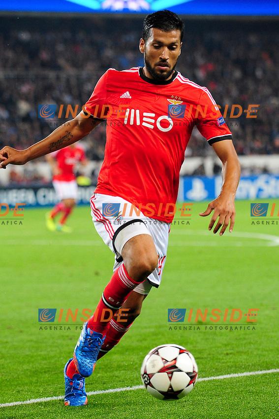 Ezequiel Garay (Benfica) <br /> Parigi 2/10/2013 <br /> Football 2013/2014 Champions League<br /> Paris Saint Germain Benfica <br /> JB Autissier Panoramic / Insidefoto <br /> ITALY ONLY