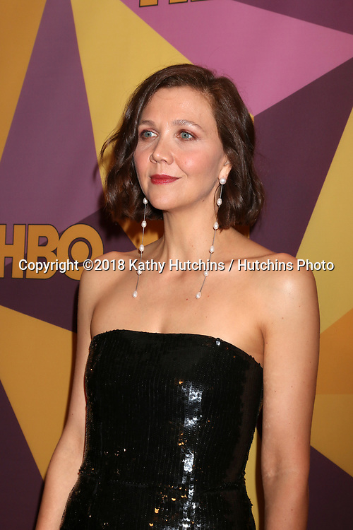 LOS ANGELES - JAN 7:  Maggie Gyllenhaal at the HBO Post Golden Globe Party 2018 at Beverly Hilton Hotel on January 7, 2018 in Beverly Hills, CA