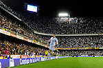 Gareth Bale celebrates after scoring during the Spanish King's Cup Final football match Real Madrid Madrid CF vs FC Barcelona  at the Mestalla stadium in Valencia on April 16, 2014  PHOTOCALL3000 / DP