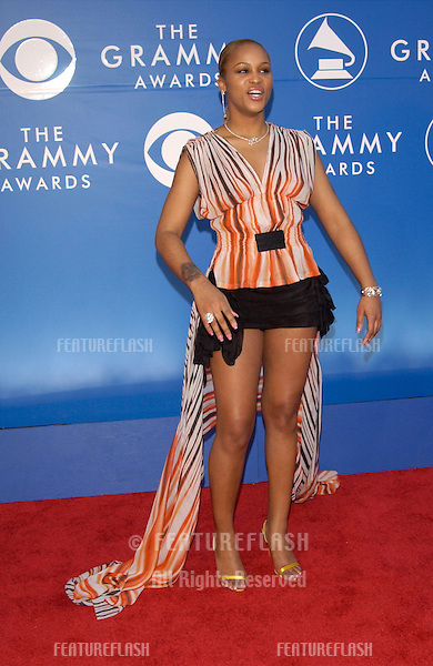 Singer EVE at the 2002 Grammy Awards in Los Angeles.