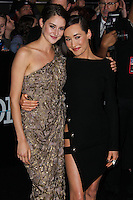 "WESTWOOD, LOS ANGELES, CA, USA - MARCH 18: Shailene Woodley, Maggie Q at the World Premiere Of Summit Entertainment's ""Divergent"" held at the Regency Bruin Theatre on March 18, 2014 in Westwood, Los Angeles, California, United States. (Photo by Xavier Collin/Celebrity Monitor)"