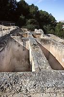The Cistern; Villa of El Munts; I Century AD, Tarragona (Tarraco, Hispania Citerior), Catalonia, Spain; one of the largest built on a hill overlooking the coast, only 12 km from Tarragona (Tarraco).