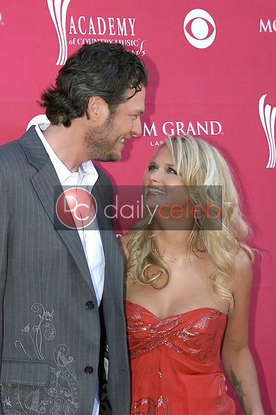 Blake Shelton and Miranda Lambert<br />at the 44th Annual Academy of Country Music Awards. MGM Grand Garden Arena, Las Vegas, NV. 04-05-09<br />Dave Edwards/DailyCeleb.com 818-249-4998