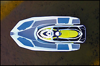 BNPS.co.uk (01202 558833)<br /> Pic: Sealver/BNPS<br /> <br /> The boat neatly docks with the jet-ski.<br /> <br /> Is it a boat - Is it a jetski....It's both!<br /> <br /> A futuristic-looking boat that is solely powered by a jetski has hit the market and it could be yours for less than &pound;8,000.<br /> <br /> The Sealver Wave Boat 444 works by allowing most mainstream jetskis to connect to the rear end, both powering and steering the boat. The jetski can then be detached at your leisure with the 14.5ft long vessel left anchored in the sea. <br /> <br /> The process of attaching and detaching the ski is quick and simple with customised adaptor kits allowing the likes of Yamaha, Kawasaki and Sea-Doo to hook up easily. <br /> <br /> Depending on the jetski powering it, the 617.2lb Wave Boat can reach speeds of 50 knots - the equivalent of 57mph.