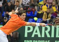 06-03-11, Tennis, Oekraine, Kharkov, Daviscup, Oekraine - Netherlands, Jesse Huta Galung