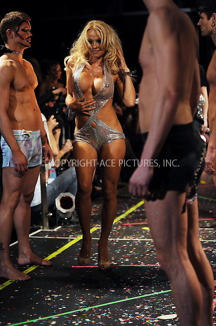 WWW.ACEPIXS.COM . . . . . ....February 17 2010, New York City....Pamela Anderson on the runway at the A*Muse Fall/Winter 2010 collection at Amnesia NYC on February 17, 2010 in New York City...Please byline: KRISTIN CALLAHAN - ACEPIXS.COM.. . . . . . ..Ace Pictures, Inc:  ..(212) 243-8787 or (646) 679 0430..e-mail: picturedesk@acepixs.com..web: http://www.acepixs.com