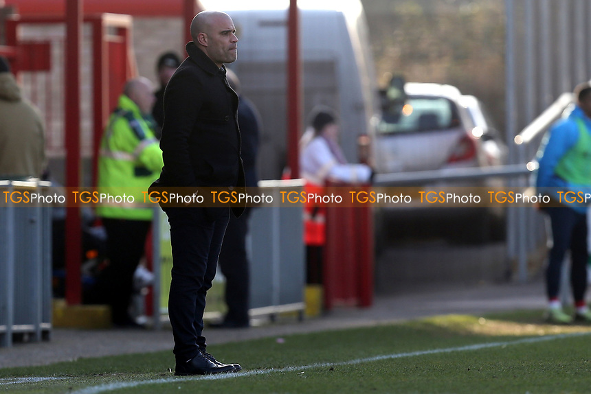 Chester manager Marcus Bignot during Dagenham & Redbridge vs Chester, Vanarama National League Football at the Chigwell Construction Stadium on 24th February 2018