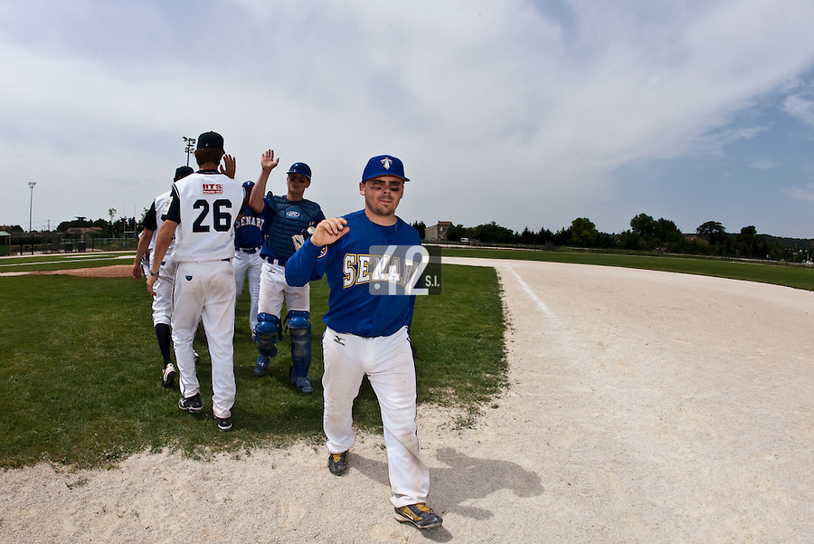 22 May 2009: Damien Teygeman of Senart is seen during the 2009 challenge de France, a tournament with the best French baseball teams - all eight elite league clubs - to determine a spot in the European Cup next year, at Montpellier, France. Senart wins 7-1 over Montpellier.
