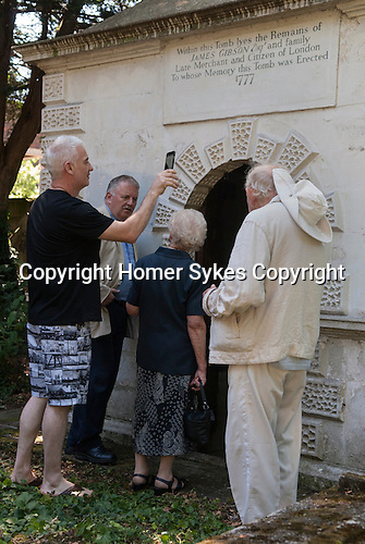 Inspection of the Gibson Mausoleum, St Nicholas&rsquo; Church  Sutton Surrey 2016. Mary Gibson died 10 October 1793 aged 64. In her last Will she bequest to the Minister and Churchwardens &pound;500-00 at 3% consolidated Bank Annuities on trust to be applied amongst other ways as follows. &pound;5-00 to the Minister forever for preaching a sermon on the 12 August.  &pound;5-00 to be distributed that day by the Churchwardens to the poor. &pound;4-00 to be divided between the Churchwardens on that day in every year for surveying and examining the Gibsons family vault.  <br />