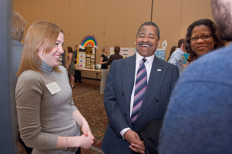 College of Education Undergrad Research Exhibition  in Baker Ballroom on Friday, March 9th. Provost Krendl,Dr. McDavis, and Dean Dr. Rene Middleton were there. There were about 45 trifold research presentations; the students worked in pairs.....Michelle Swift , Dr. McDavis, Dr. Middleton