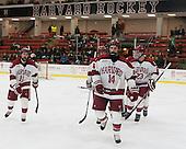 Kyle Criscuolo (Harvard - 11), Alexander Kerfoot (Harvard - 14), David Valek (Harvard - 23) - The Harvard University Crimson defeated the Princeton University Tigers 3-2 on Friday, January 31, 2014, at the Bright-Landry Hockey Center in Cambridge, Massachusetts.