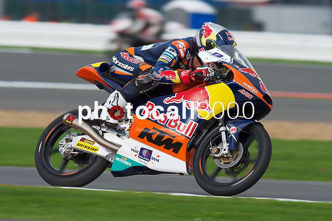 hertz british grand prix during the world championship 2014.<br /> Silverstone, england<br /> August 28, 2014. <br /> FP Moto3<br /> jack miller<br /> PHOTOCALL3000/ RME