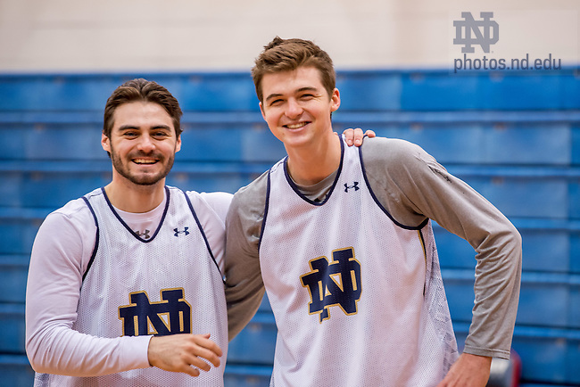 Mar. 17, 2016; Practice at St. Francis College in Brooklyn before the first round of the 2016 NCAA Tournament (Photo by Matt Cashore/University of Notre Dame)