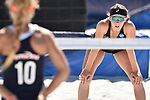 GULF SHORES, AL - MAY 07: The University of Hawaii takes on Pepperdine University during the Division I Women's Beach Volleyball Championship held at Gulf Place on May 7, 2017 in Gulf Shores, Alabama. (Photo by Stephen Nowland/NCAA Photos via Getty Images)
